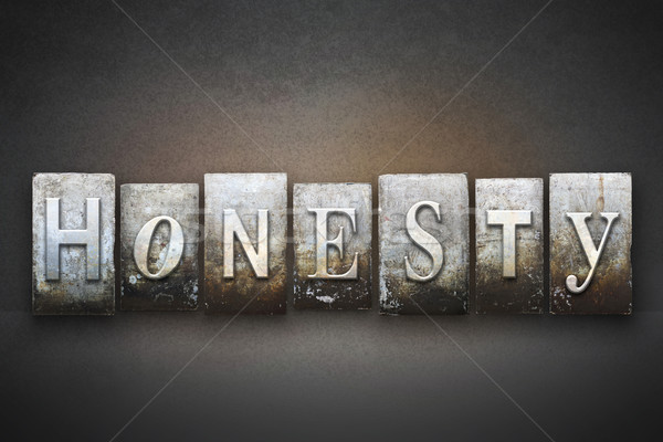 Honesty Letterpress Stock photo © enterlinedesign