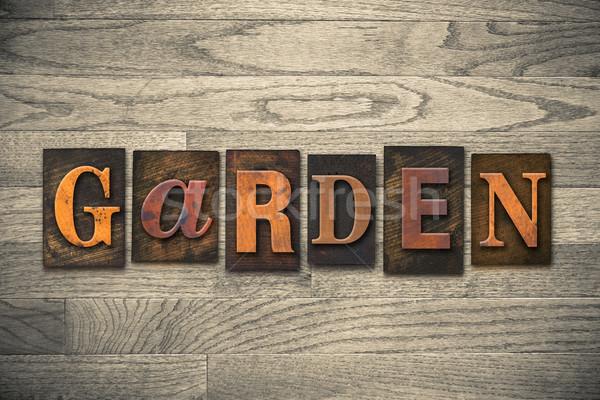Ogród słowo napisany vintage Zdjęcia stock © enterlinedesign