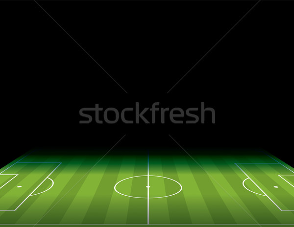 Soccer Football Field with Copyspace Illustration Stock photo © enterlinedesign