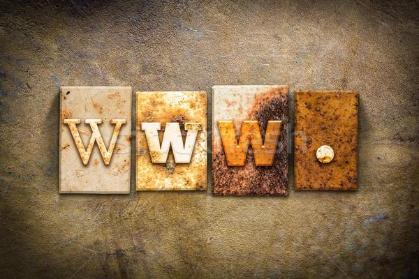 Www piele cuvant scris ruginit Imagine de stoc © enterlinedesign