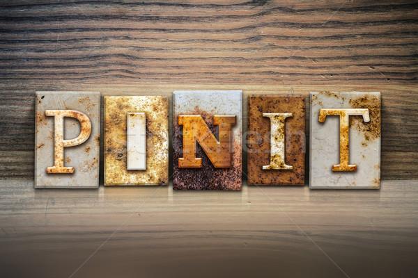 Pin It Concept Letterpress Theme Stock photo © enterlinedesign