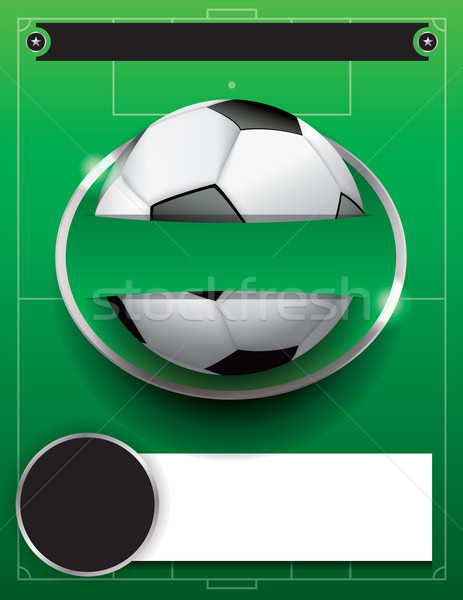 Vector Soccer Football Tournament Template Illustration Stock photo © enterlinedesign