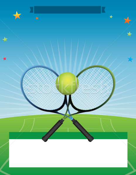 Vector Tennis Tournament illustration Stock photo © enterlinedesign