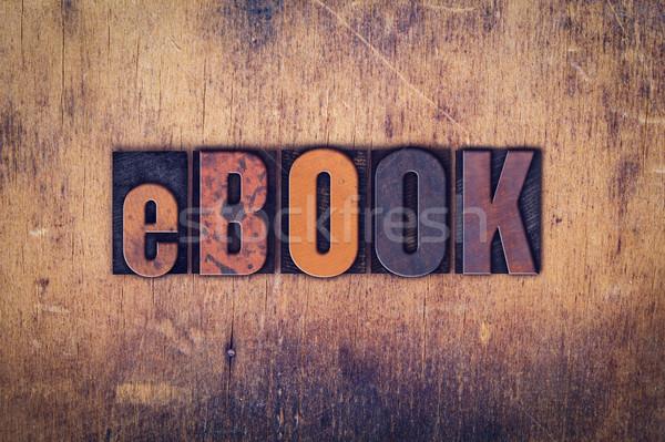 Ebook tipo palavra escrito Foto stock © enterlinedesign