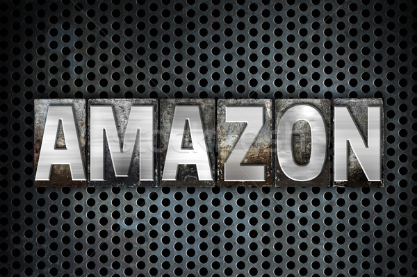 Amazon Concept Metal Letterpress Type Stock photo © enterlinedesign