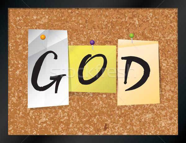 Бога бюллетень совета иллюстрация слово написанный Сток-фото © enterlinedesign