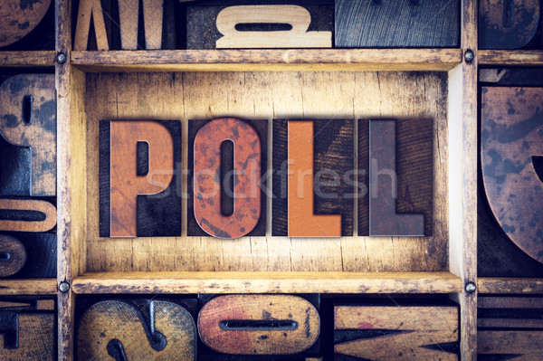 Poll Concept Letterpress Type Stock photo © enterlinedesign