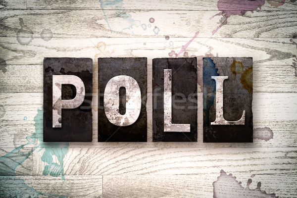 Poll Concept Metal Letterpress Type Stock photo © enterlinedesign