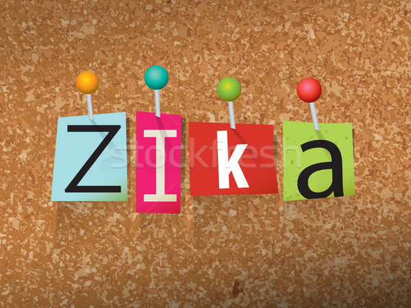 Zika Virus Pinned Ransom Letters Illustration Stock photo © enterlinedesign