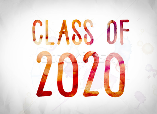 Class of 2020 Concept Watercolor Word Art Stock photo © enterlinedesign