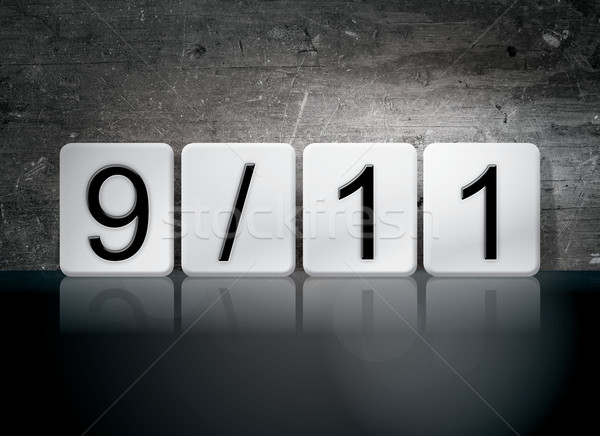 9-11 Tiled Letters Concept and Theme Stock photo © enterlinedesign