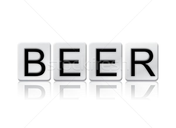 Beer Isolated Tiled Letters Concept and Theme Stock photo © enterlinedesign
