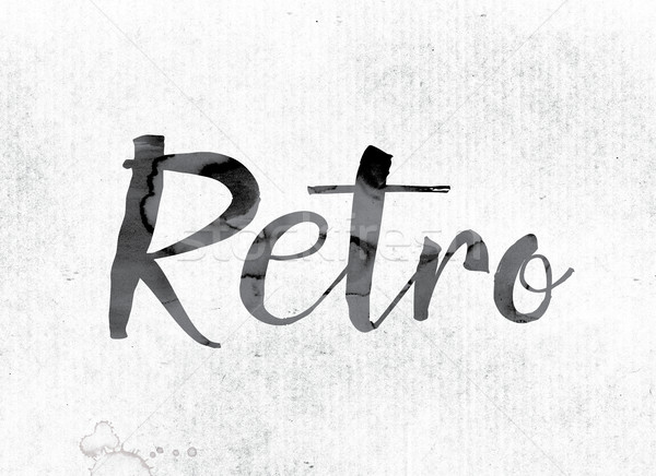 Retro Concept Painted in Ink Stock photo © enterlinedesign