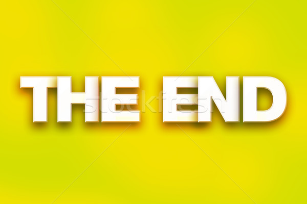 The End Concept Colorful Word Art Stock photo © enterlinedesign