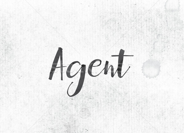 Agent Concept Painted Ink Word and Theme Stock photo © enterlinedesign