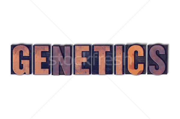 Genetik yalıtılmış kelime yazılı bağbozumu Stok fotoğraf © enterlinedesign