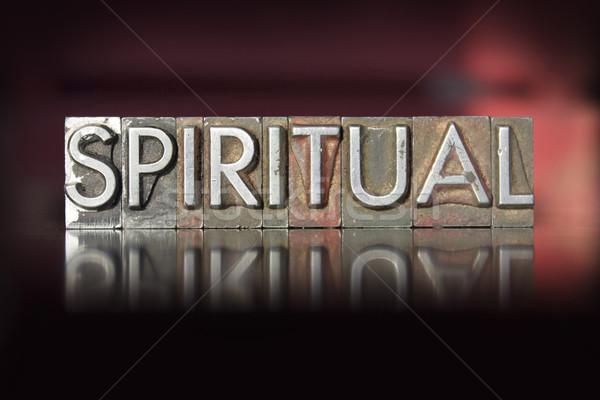 Duchowe słowo napisany vintage typu Zdjęcia stock © enterlinedesign