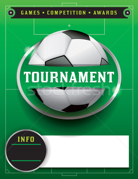 Soccer Football Tournament Template Illustration Stock photo © enterlinedesign