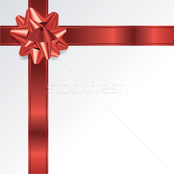 Red Christmas Holiday Bow and Ribbon Background Stock photo © enterlinedesign