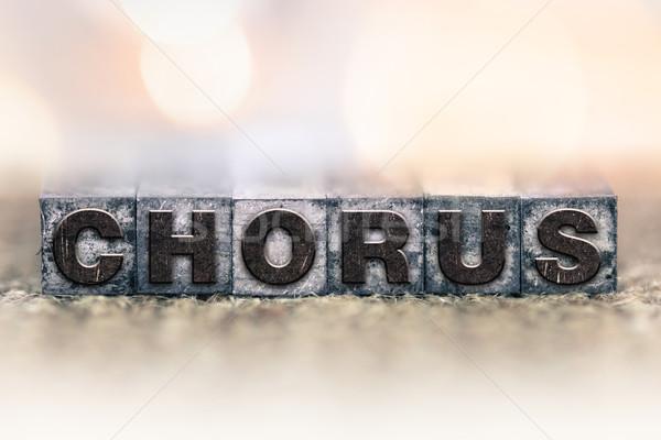 Coro vintage tipo palabra escrito Foto stock © enterlinedesign