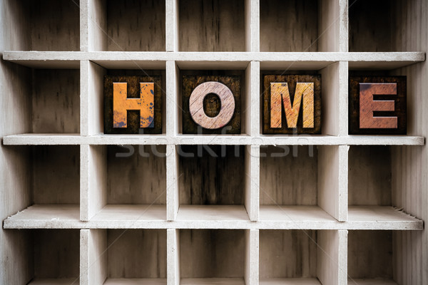 Casa tipo desenhar palavra Foto stock © enterlinedesign