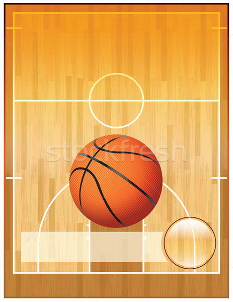 Vector Basketball League Flyer Stock photo © enterlinedesign