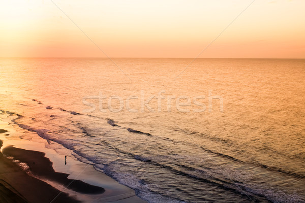 Beach Shoreline at Sunrise Stock photo © enterlinedesign