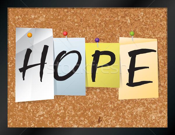 Esperança boletim conselho ilustração palavra escrito Foto stock © enterlinedesign