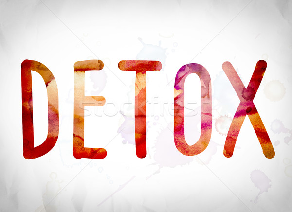Detox Concept Watercolor Word Art Stock photo © enterlinedesign