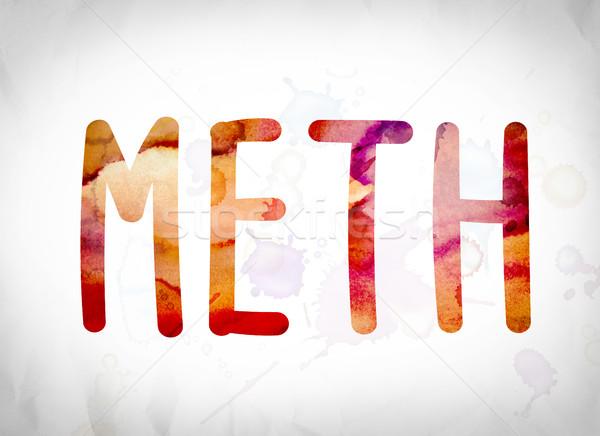 Meth Concept Watercolor Word Art Stock photo © enterlinedesign