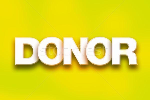 Donor Concept Colorful Word Art Stock photo © enterlinedesign