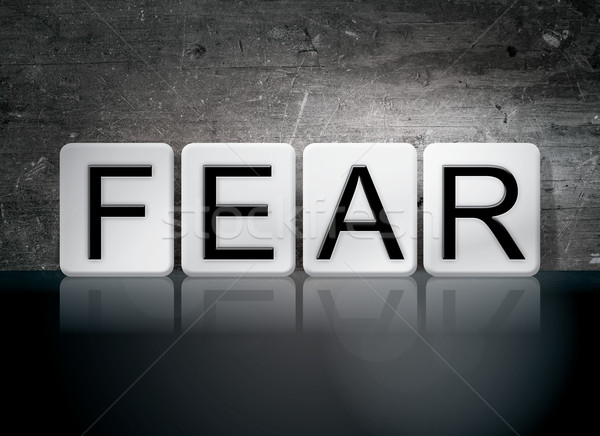 Fear Tiled Letters Concept and Theme Stock photo © enterlinedesign