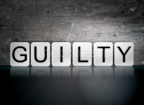 Guilty Tiled Letters Concept and Theme Stock photo © enterlinedesign