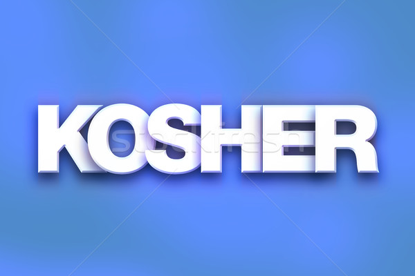 Kosher Concept Colorful Word Art Stock photo © enterlinedesign
