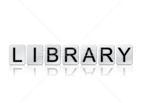 Library Isolated Tiled Letters Concept and Theme Stock photo © enterlinedesign