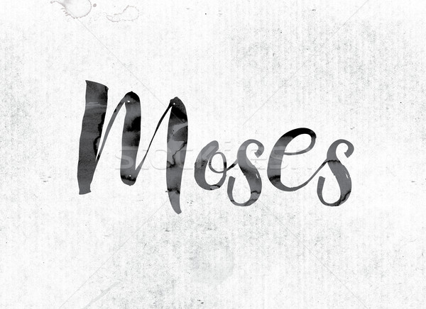 Moses Concept Painted in Ink Stock photo © enterlinedesign