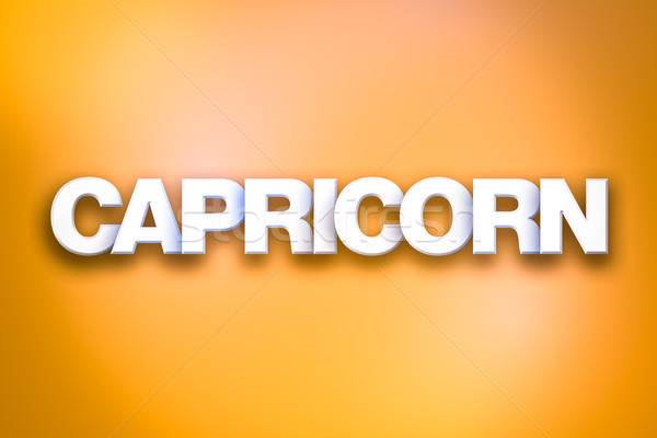 Capricorn Theme Word Art on Colorful Background Stock photo © enterlinedesign