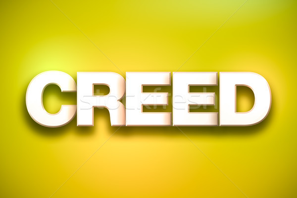 Creed Theme Word Art on Colorful Background Stock photo © enterlinedesign
