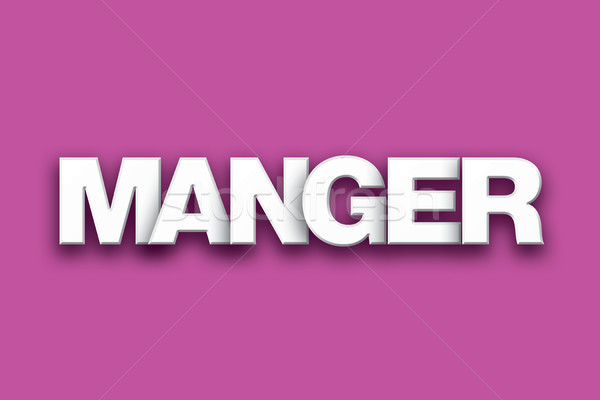 Manger Theme Word Art on Colorful Background Stock photo © enterlinedesign