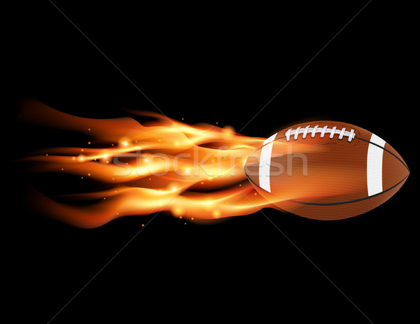 Flaming Football Stock photo © enterlinedesign