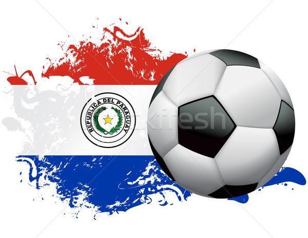 Paraguay Soccer Grunge Design Stock photo © enterlinedesign