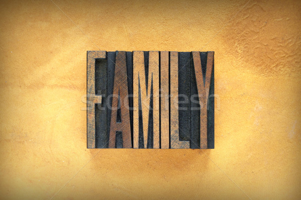 Family Letterpress Stock photo © enterlinedesign
