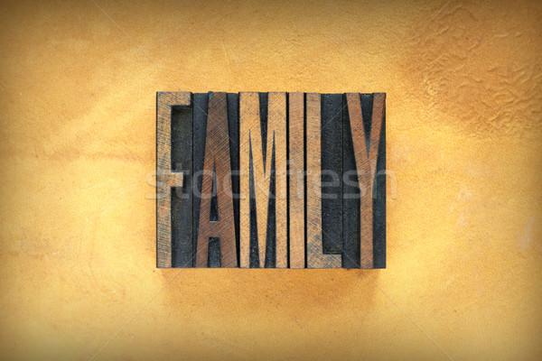 Family Letterpress Stock photo © enterlinedesign