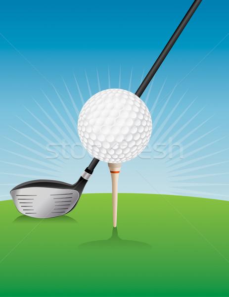 Сток-фото: мяч · для · гольфа · драйвера · иллюстрация · вектора · прибыль · на · акцию · 10