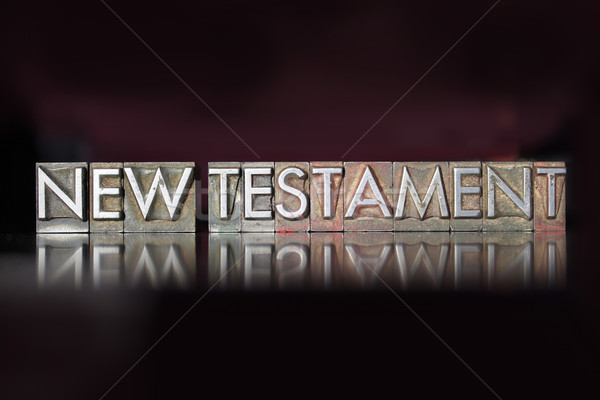 New Testament Letterpress Stock photo © enterlinedesign