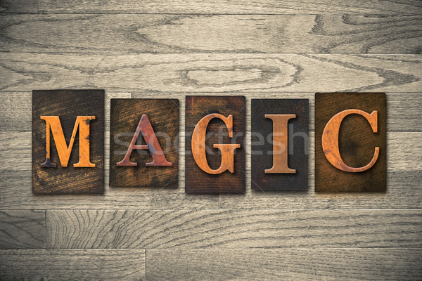Magic Wooden Letterpress Concept Stock photo © enterlinedesign
