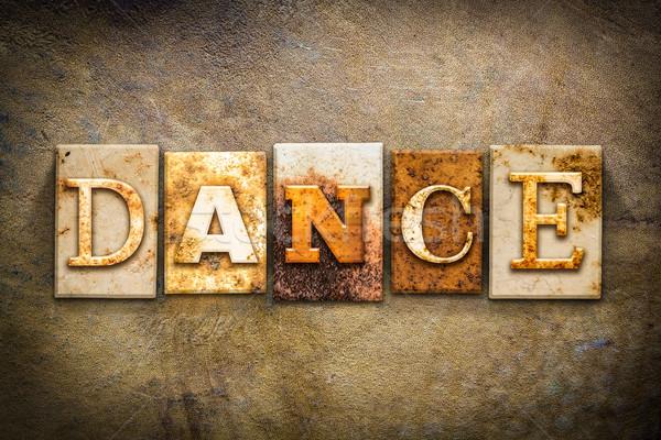 Dance Concept Letterpress Leather Theme Stock photo © enterlinedesign