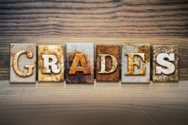 Grades Concept Letterpress Theme Stock photo © enterlinedesign