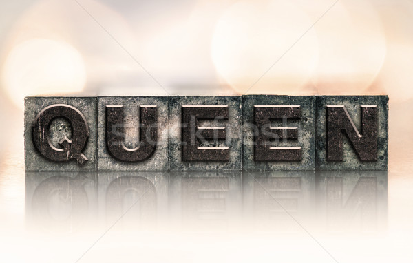 Queen Concept Vintage Letterpress Type Stock photo © enterlinedesign