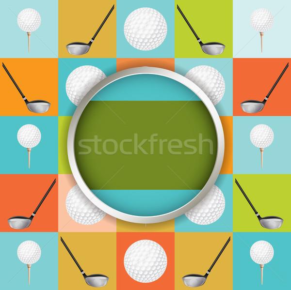 Vector golf torneo ilustración volante diseno Foto stock © enterlinedesign